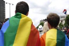 Ομοφυλοφιλική υπερηφάνεια 2013 στο Παρίσι στοκ εικόνα με δικαίωμα ελεύθερης χρήσης