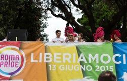 Ομοφυλοφιλική υπερηφάνεια της Ρώμης στοκ φωτογραφία με δικαίωμα ελεύθερης χρήσης