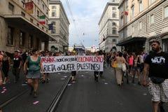 Ομοφυλοφιλική υπερηφάνεια της Ρώμης στοκ φωτογραφίες με δικαίωμα ελεύθερης χρήσης