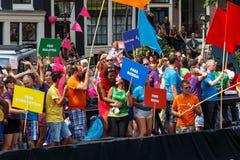 Ομοφυλοφιλική υπερηφάνεια 2014 του Άμστερνταμ Στοκ Εικόνα