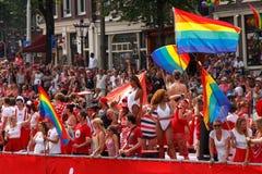 Ομοφυλοφιλική υπερηφάνεια 2014 του Άμστερνταμ Στοκ φωτογραφία με δικαίωμα ελεύθερης χρήσης