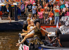 Ομοφυλοφιλική υπερηφάνεια 2014 του Άμστερνταμ Στοκ Εικόνες