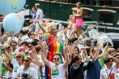 Ομοφυλοφιλική υπερηφάνεια 2015 του Άμστερνταμ στοκ εικόνες