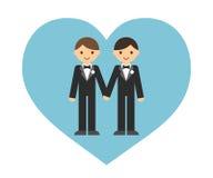 Ομοφυλοφιλικό γαμήλιο ζεύγος Στοκ εικόνες με δικαίωμα ελεύθερης χρήσης
