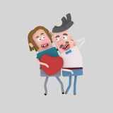 Ομοφυλοφιλικό ζεύγος ερωτευμένο Στοκ Εικόνες
