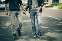 ομοφυλοφιλικό κάθισμα δύο τύπων ζευγών σπορείων Στοκ Φωτογραφίες