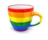 Ομοφυλοφιλικό φλυτζάνι χρώματος υπερηφάνειας Στοκ εικόνα με δικαίωμα ελεύθερης χρήσης