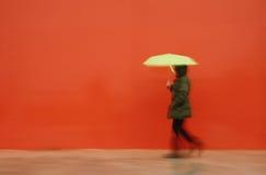 ομπρέλα ατόμων Στοκ Εικόνες