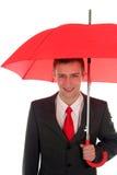 ομπρέλα επιχειρηματιών Στοκ εικόνες με δικαίωμα ελεύθερης χρήσης