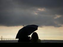 ομπρέλα ζευγών Στοκ Φωτογραφίες