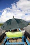 ομπρέλα θαλάσσης Στοκ εικόνες με δικαίωμα ελεύθερης χρήσης