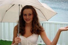ομπρέλα κοριτσιών Στοκ Εικόνες