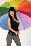 ομπρέλα κοριτσιών Στοκ Εικόνα