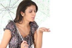 ομπρέλα παιχνιδιού κοριτ&si Στοκ εικόνα με δικαίωμα ελεύθερης χρήσης