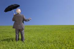 ομπρέλα πεδίων επιχειρημ&alph Στοκ εικόνες με δικαίωμα ελεύθερης χρήσης