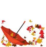 ομπρέλα φθινοπώρου διανυσματική απεικόνιση