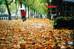 ομπρέλα 2 κάτω από τον περίπατ& Στοκ Φωτογραφίες