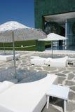 ομπρέλες ξενοδοχείων Στοκ Εικόνες
