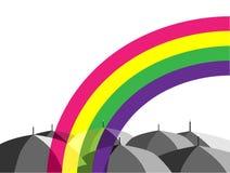 ομπρέλες ουράνιων τόξων Στοκ Εικόνα