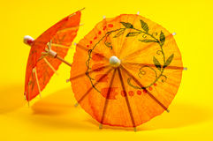 ομπρέλες ποτών στοκ εικόνα