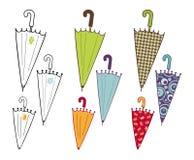 ομπρέλες συλλογής Στοκ εικόνα με δικαίωμα ελεύθερης χρήσης