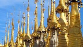 Ομπρέλες Hti, λίμνη Inle, το Μιανμάρ απόθεμα βίντεο