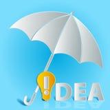 Ομπρέλα βολβών ιδέας Στοκ φωτογραφία με δικαίωμα ελεύθερης χρήσης