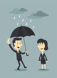 Ομπρέλα και σύννεφο απεικόνιση αποθεμάτων