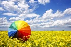 ομπρέλα ουράνιων τόξων Στοκ Εικόνα