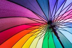 ομπρέλα ουράνιων τόξων Στοκ εικόνα με δικαίωμα ελεύθερης χρήσης