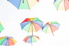ομπρέλα ουράνιων τόξων Στοκ Φωτογραφίες