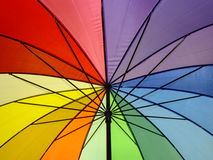 ομπρέλα ουράνιων τόξων Στοκ Εικόνες