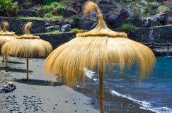 Ομπρέλα στην παραλία, Tenerife, Ισπανία Στοκ Εικόνα