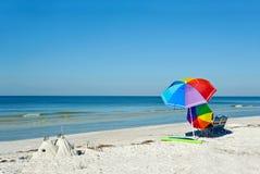 Ομπρέλες παραλιών Στοκ εικόνες με δικαίωμα ελεύθερης χρήσης