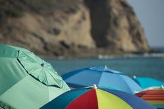 Ομπρέλες παραλιών στοκ εικόνα με δικαίωμα ελεύθερης χρήσης