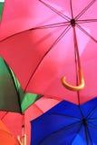 Ομπρέλες πολλές Στοκ Φωτογραφία