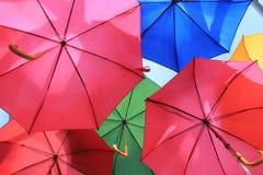 Ομπρέλες πολλές Στοκ Εικόνες