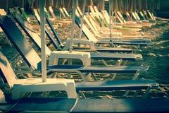 Ομπρέλες σε μια παραλία Στοκ εικόνα με δικαίωμα ελεύθερης χρήσης