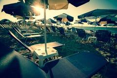 Ομπρέλες σε μια παραλία Στοκ Εικόνες