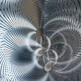 Ομόκεντρη περίληψη χρωμίου διανυσματική απεικόνιση