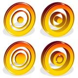 Ομόκεντροι κύκλοι, bullseye, διαγώνιος-τρίχα, σταυρόνημα, στόχος Mark Η Στοκ φωτογραφία με δικαίωμα ελεύθερης χρήσης