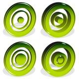 Ομόκεντροι κύκλοι, bullseye, διαγώνιος-τρίχα, σταυρόνημα, στόχος Mark Η Στοκ Φωτογραφία
