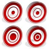 Ομόκεντροι κύκλοι, bullseye, διαγώνιος-τρίχα, σταυρόνημα, στόχος Mark Η Στοκ Εικόνες