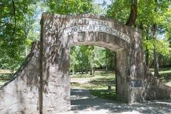 Ομόσπονδο νεκροταφείο, Reseca Γεωργία ΗΠΑ Στοκ Φωτογραφία