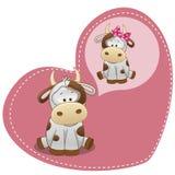 Ονειρεμένος αγελάδα ελεύθερη απεικόνιση δικαιώματος