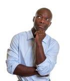 Ονειρεμένος αφρικανικός επιχειρηματίας Στοκ φωτογραφίες με δικαίωμα ελεύθερης χρήσης
