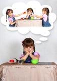 ονειρεμένος κορίτσι έννο&i Στοκ Εικόνες