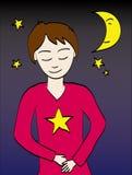 ονειρεμένος κορίτσι αγ&omic Στοκ εικόνα με δικαίωμα ελεύθερης χρήσης