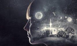 ονειρεμένος κορίτσι ελά&c Μικτά μέσα Στοκ φωτογραφία με δικαίωμα ελεύθερης χρήσης