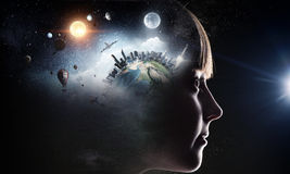 ονειρεμένος κορίτσι ελά&c Στοκ Εικόνα
